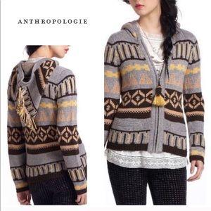 Anthropologie - Sparrow jacket fringe top shirt